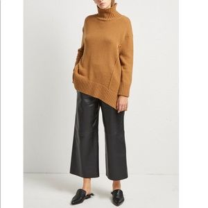 know one cares faux leather culottes crop ankle